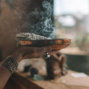 The cleansing properties of Sage and Palo Santo